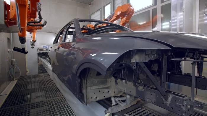 News video: Der BMW X7 - Lackiererei