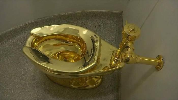 Video: Einbrecher stehlen Toilette aus 18-karätigem Gold im Wert von mehr als 5 Millionen Dollar