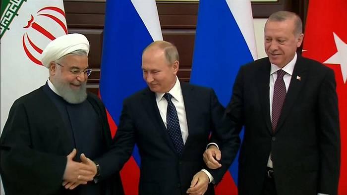 News video: Syrien-Gipfel: Erdoğan, Putin, Rohani sprechen über Idlib