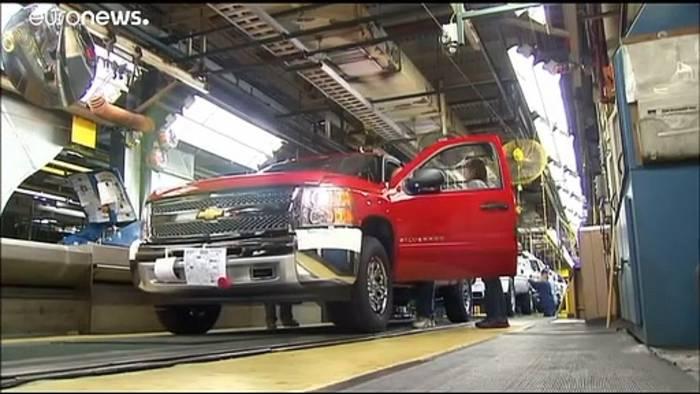 News video: Streik bei General Motors