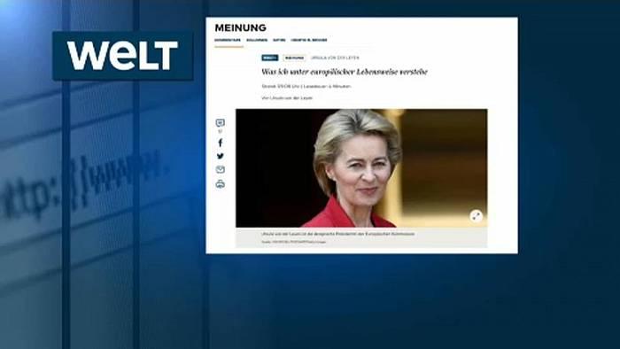 News video: Von der Leyen verteidigt umstrittenen Ressort-Titel