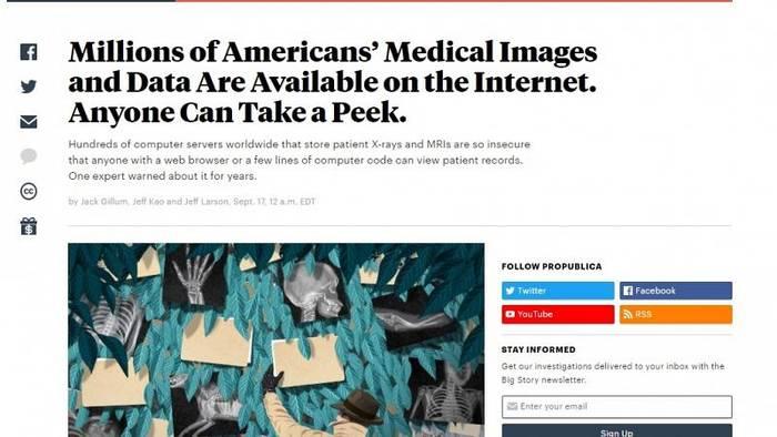 Video: Millionen Patientendaten offen im Netz