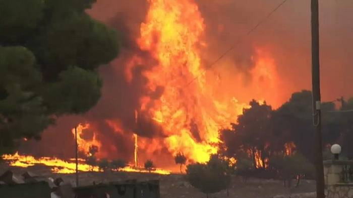 News video: Waldbrand auf Zakynthos