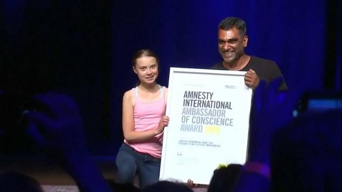 Video: AMNESTY INTERNATIONAL ehrt Greta Thunberg (16) und Fridays for Future