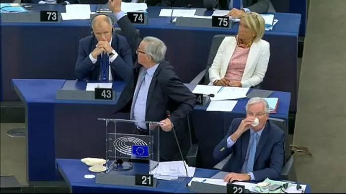 Video: Brexit provoziert Schrei-Gefechte im Europäischen Parlament