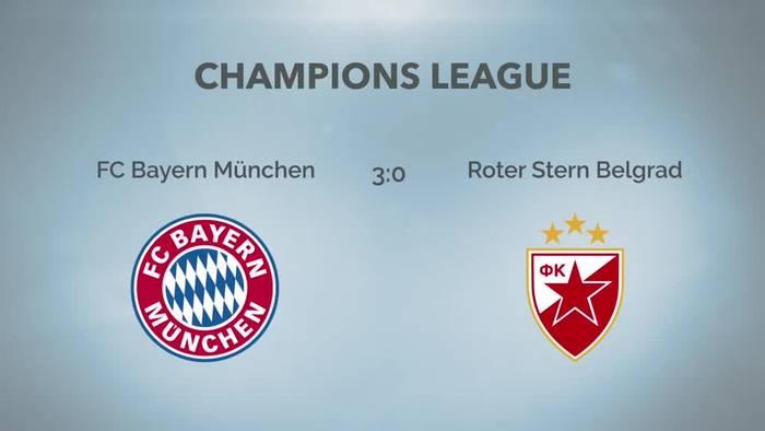 News video: FC Bayern gewinnt gegen Belgrad - Leverkusen patzt