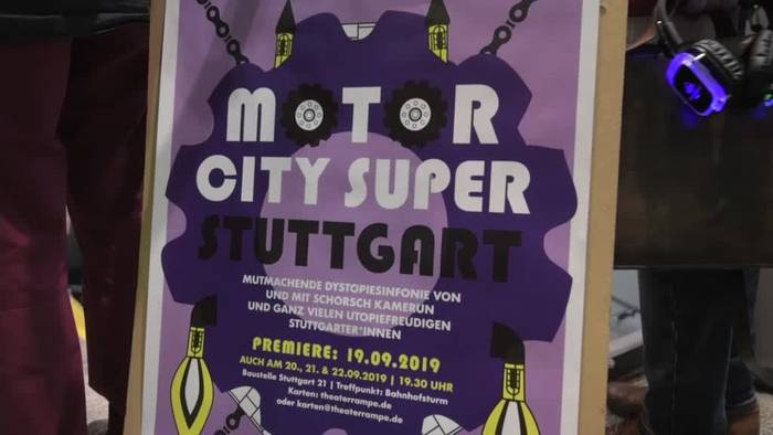 Video: Bühne statt Beton: Theater bespielt Baugrube «Stuttgart 21»