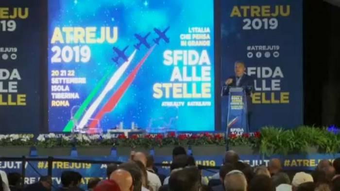 Video: Rom: Brüder Italiens riefen - Orban kam