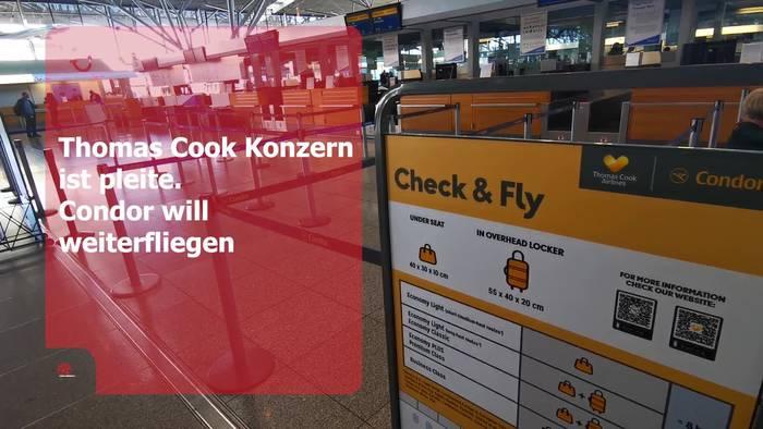 News video: Condor fliegt weiter - Jedoch keine Beförderung von Thomas Cook Buchungen!