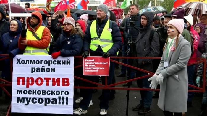Video: Nordrussland: Anwohner protestieren gegen Bau einer gigantischen Müll-Deponie