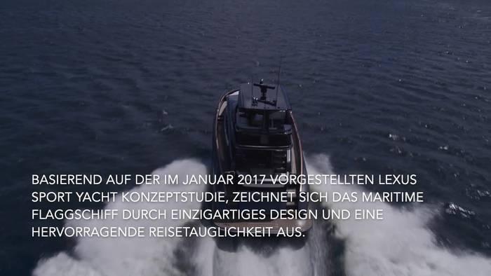 News video: Lexus präsentiert neue Luxusyacht LY 650