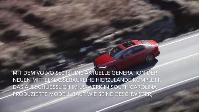 News video: Mit vier Motorisierungen und zwei Ausstattungslinien - Neuer Volvo S60 rollt auf deutsche Straßen