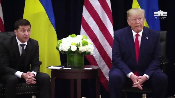 News video: Trump: Whistleblower sei fast ein «Spion»