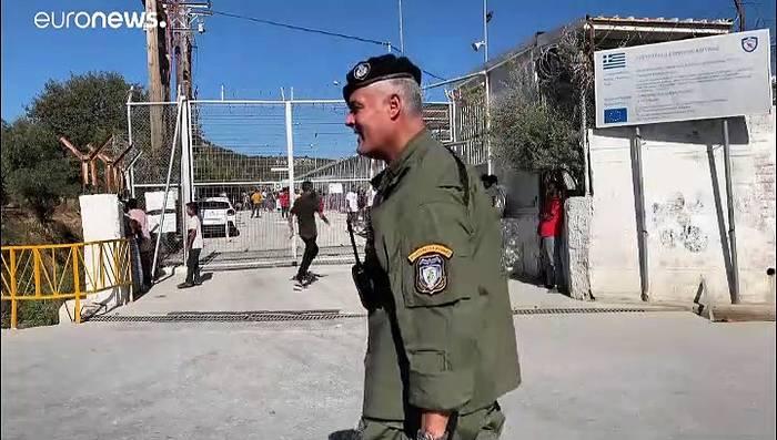 Video: Unruhen nach Brand im Migrantenlager auf Lesbos