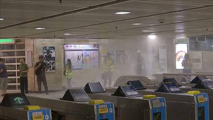 News video: Trotz Vermummungsverbot: Proteste in Hongkong gehen weiter
