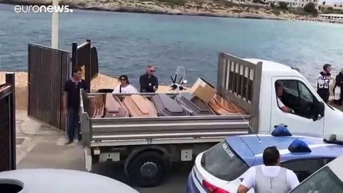 Video: Kaum Hoffnung für 15 Vermisste vor Lampedusa
