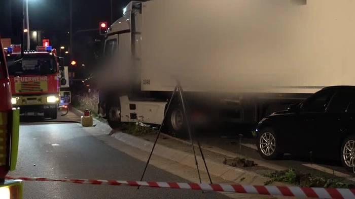 Video: Syrer verursachte Lkw-Zusammenstoß in Limburg - Motiv unklar