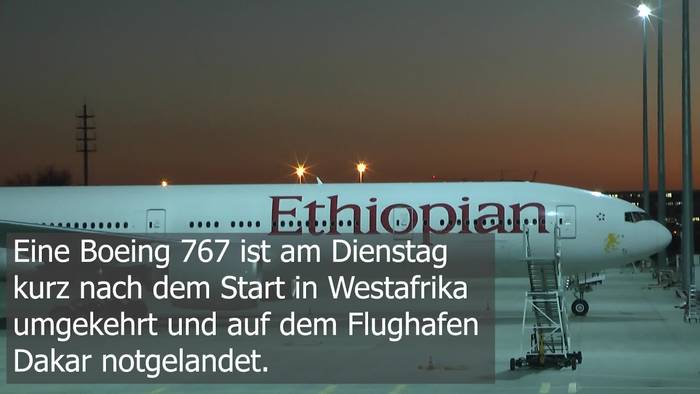 News video: Ethiopian Airlines Notlandung: Triebwerkprobleme in Dakar!