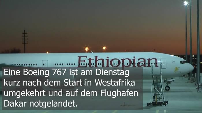 Video: Ethiopian Airlines Notlandung: Triebwerkprobleme in Dakar!