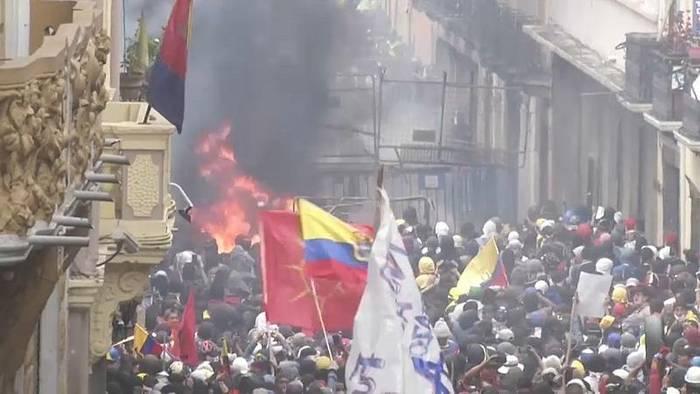 Video: Mehr als 670 Festnahmen: Protestwelle in Ecuador geht weiter