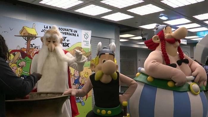Video: Zum 60ten - Asterix und Obelix in der Metro
