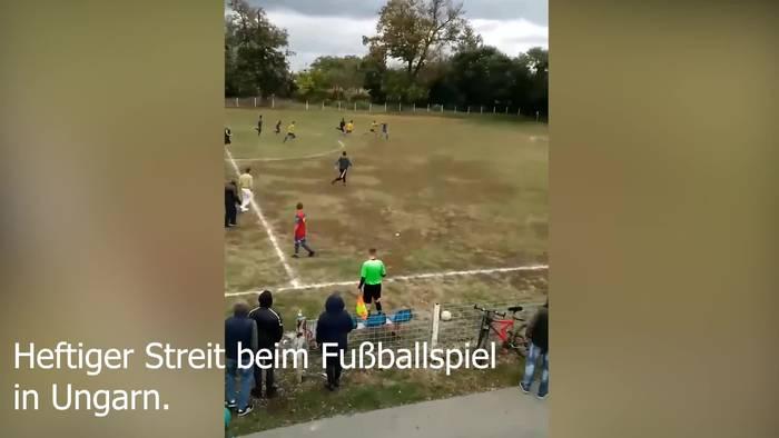 Video: Autsch! Schlägerei auf Fußballfeld