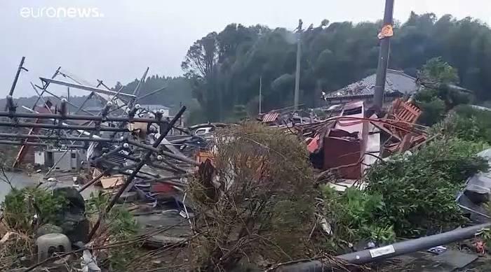 News video: Taifun zieht über Japan