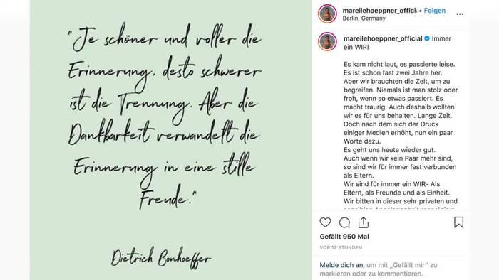News video: «Brisant»-Moderatorin Mareile Höppner gibt Trennung bekannt