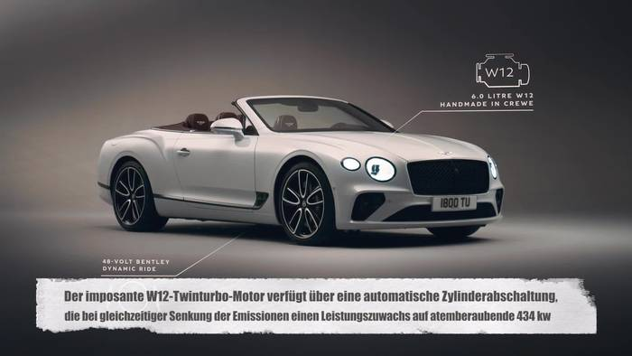 News video: Bentley Continental GT Convertible - Exterieur und Technologie