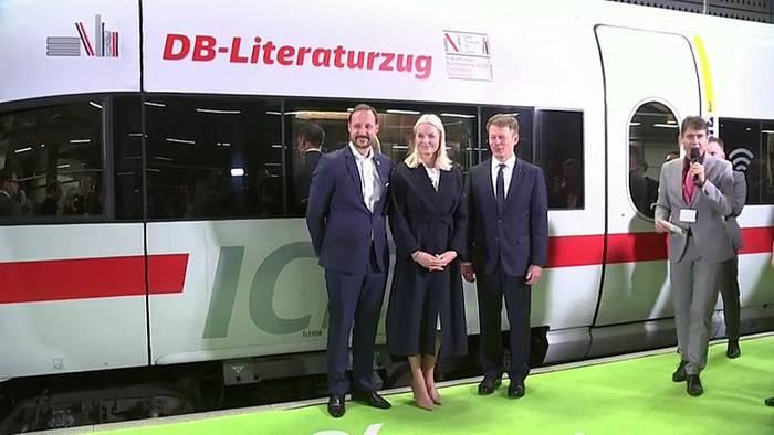 Video: Kronprinzessin Mette-Marit : Mit dem Sonderzug nach Frankfurt