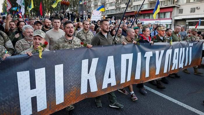 Video: Proteste in Kiew gegen Friedensplan der Regierung