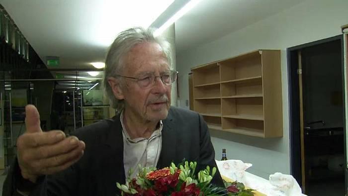 News video: Handke über Frage zu Stanišić-Kritik: