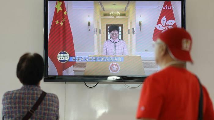 News video: Hongkong: Regierungschefin Lam wird ausgebuht