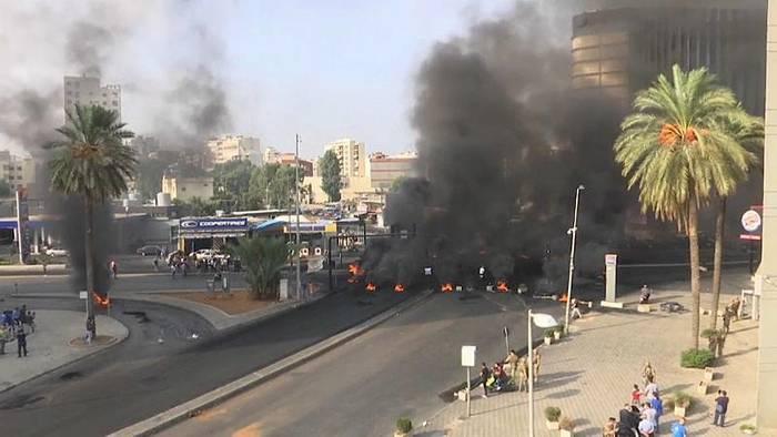 News video: Ausschreitungen bei Protesten im Libanon