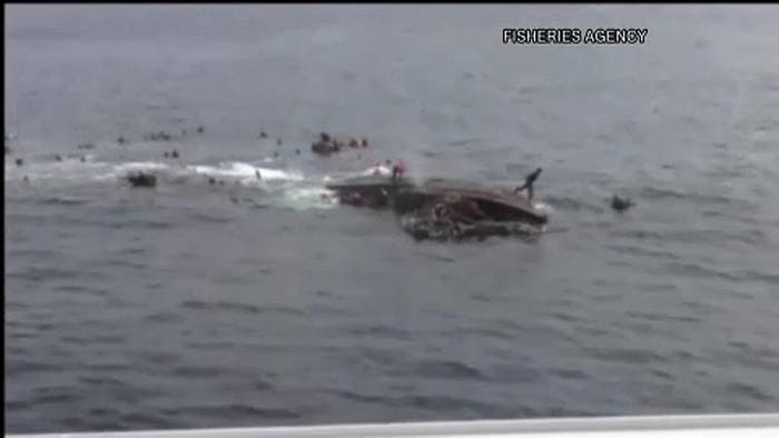 Video: Nordkoreanisches Fischerboot sinkt nach Kollision vor Japan