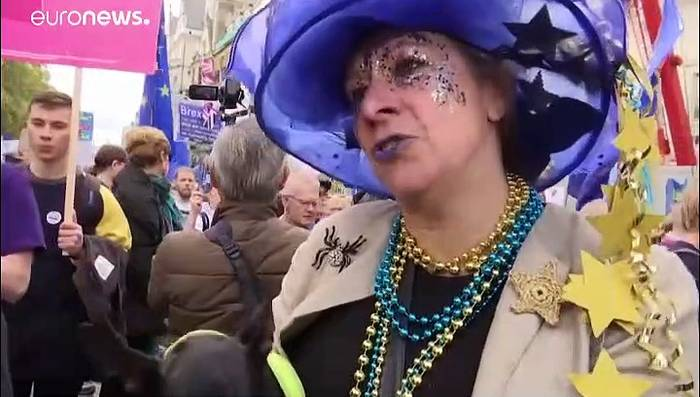 News video: Hunderttausende bei Anti-Brexit-Demo in London