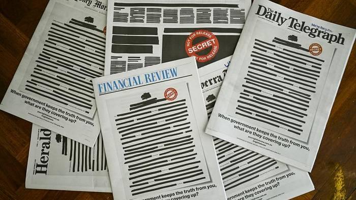 News video: Australien sieht schwarz: Zeitungen zensieren Titelseiten