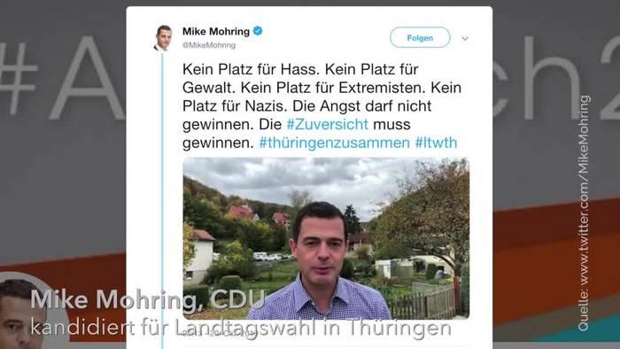 News video: Nach Morddrohungen: CDU-Spitzenkandidat Mohring äußert sich
