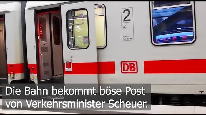 Video: Post vom Verkehrsminister: Bahn unter Druck!
