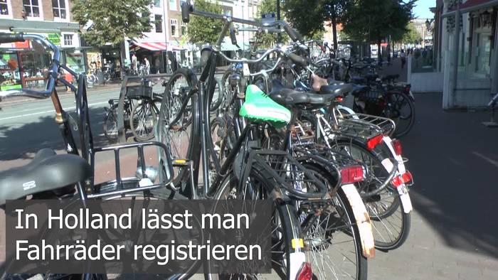 News video: Amsterdam hat 840.000 Einwohner und 880.000 Fahrräder