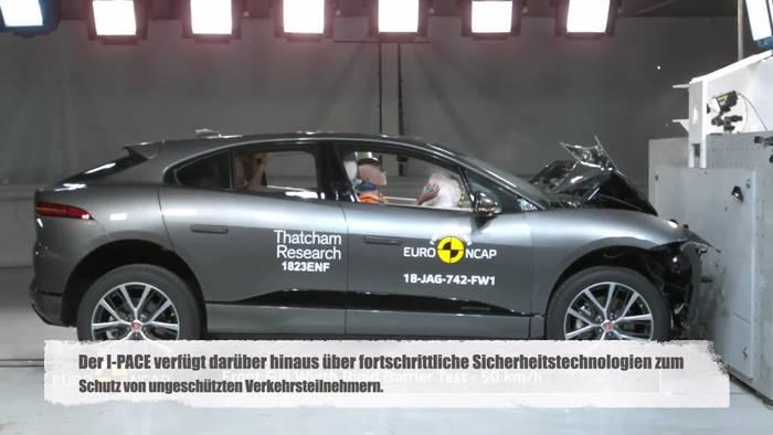 Video: Als drittes Mitglied der PACE-SUV-Familie - Fünf-Sterne bei Euro Ncap für elektrischen Jaguar I-PACE