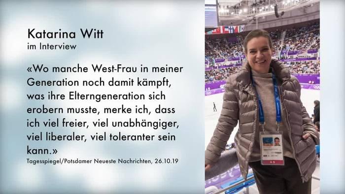 Video: Katarina Witt: Ost-Frau ist für mich ein Gütesiegel