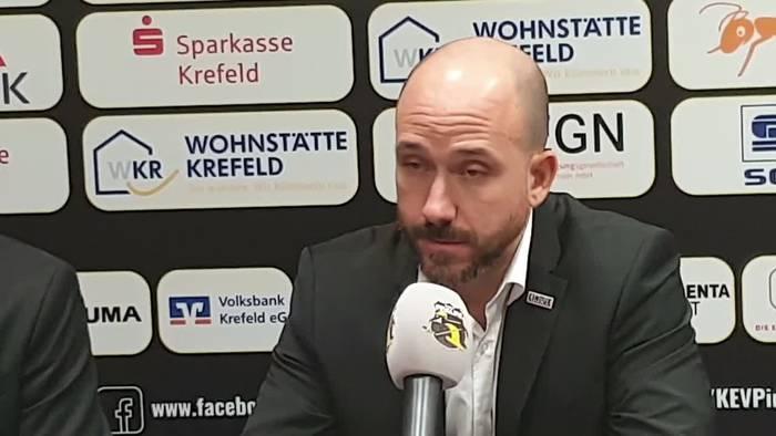 Video: Heikle Frage an Krefelds Trainer Brandon Reid