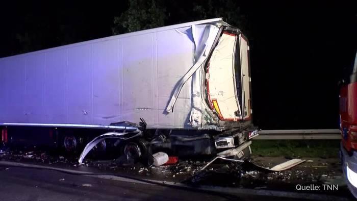 News video: Unfall mit Gefahrgut-Laster bei Hockenheim - A6 gesperrt