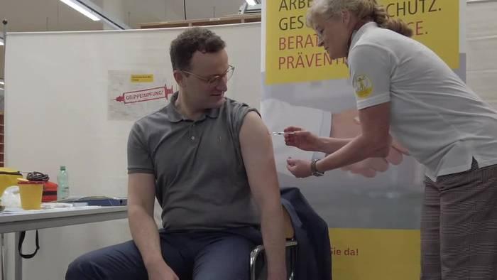 Video: Grippeschutz für den Bundesgesundheitsminister