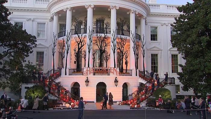 Video: Gruseliger Besuch im Weißen Haus