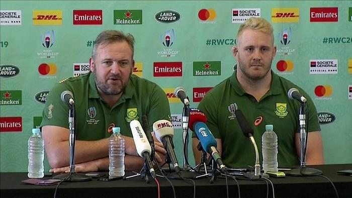 Video: Südafrika erwartet England im Finale der Rugby-WM