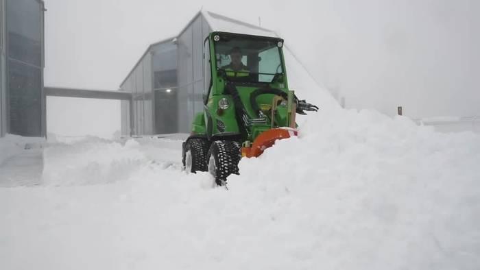Video: Schnee auf der Zugspitze - Milde Temperaturen in der Fläche