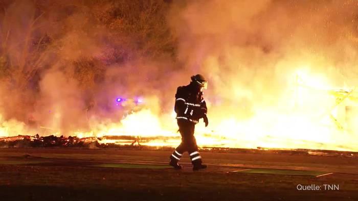 Video: Großbrand auf Golf-Club-Anlage bei Hamburg