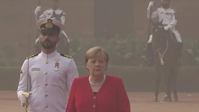 Video: Kanzlerin Merkel in Indien: Kooperation bei Zukunftsthemen